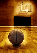 Basket Ball Game Prints - Basketball Court Competition Print by Lane Erickson