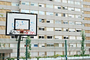 Dunk Metal Prints - Basketball court in a social neighbourhood Metal Print by Luis Santos