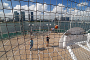 Net Prints - Basketball Court on Cruise Ship Print by Amy Cicconi