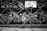 Basketball Digital Art Originals - Basketball Court by Tomasz Sergej