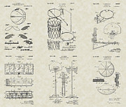 Sports Lover Prints - Basketball Equipment Patent Collection Print by PatentsAsArt