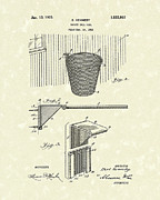 Basket Ball Drawings - Basketball Hoop 1925 Patent Art by Prior Art Design