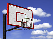 Basket Ball Game Prints - Basketball hoop Print by G J