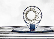Basket Ball Game Framed Prints - Basketball Hoop Framed Print by Sharon Meyer
