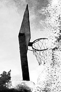 Basket Ball Posters - Basketball hoop Poster by Yvonne Haugen