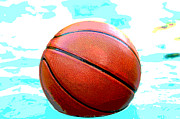 Basket Ball Game Prints - Basketball in pool Print by Tammy Abrego