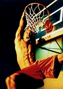 American Professional Basketball Player Posters - Basketball player playing strong Poster by Lanjee Chee