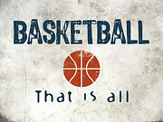 Basketballs Digital Art - Basketball That Is All by Vintage Poster Designs