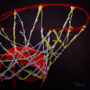 Hoop Painting Prints - Basketball Print by Tracey Bautista