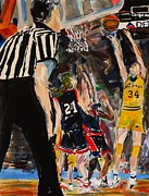 Basketball Paintings - Basketball by Troy Thomas