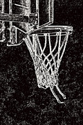 Nba Metal Prints - Basketball Years Metal Print by Karol  Livote