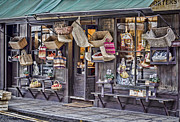 Historic Country Store Photo Posters - Baskets For Sale Poster by Heather Applegate