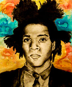 African American Artist Drawings Posters - Basquiat Poster by Ashley Henry