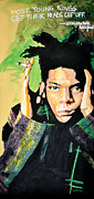 Oil Pastels Paintings - Basquiat by dreXeL