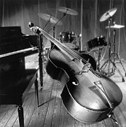 Musical Instruments Photos - Bass fiddle by Tony Cordoza