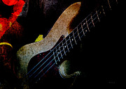 Electric Guitar Tapestries Textiles - Bass Guitar by Bob Orsillo