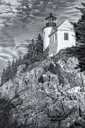 Maine Lighthouses Photo Posters - Bass Harbor Head Light II Poster by Clarence Holmes