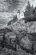 Maine Lighthouses Photo Posters - Bass Harbor Head Light IV Poster by Clarence Holmes