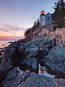 Maine Metal Prints - Bass Harbor Head Light Metal Print by Patrick Downey
