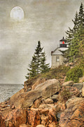Stormy Sky Framed Prints - Bass Harbor Head Lighthouse. Acadia National Park Framed Print by Juli Scalzi