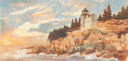 Bass Head Lighthouse Posters - Bass Harbor Head Lighthouse Poster by Carol Kutz
