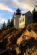 Bass Head Lighthouse Posters - Bass Harbor Head Lighthouse I Poster by Daniel Woodrum