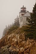 Bass Head Lighthouse Posters - Bass Harbor Head Lighthouse Poster by Karma Boyer
