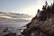 Bass Head Lighthouse Posters - Bass Harbor Head Lighthouse Maine Poster by Terry DeLuco