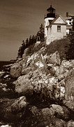 Bass Head Lighthouse Framed Prints - Bass Harbor Head Lighthouse Framed Print by Skip Willits