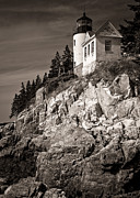 Bass Head Lighthouse Posters - Bass Harbor Head Lighthouse Poster by Wayne Meyer