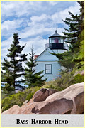 Bass Head Lighthouse Posters - Bass Harbor Head Poster Poster by Bold Coast Photography