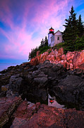 Bass Harbor Lighthouse Posters - Bass Harbor Lighthouse 2 Poster by Emmanuel Panagiotakis