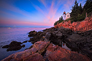 Nubble Lighthouse Prints - Bass Harbor Lighthouse 5 Print by Emmanuel Panagiotakis
