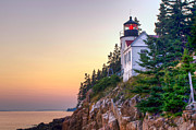 Maine Lighthouses Photo Posters - Bass Harbor Lighthouse Poster by At Lands End Photography