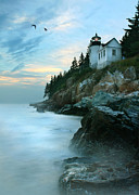 New England Lighthouse Digital Art Prints - Bass Harbor Lighthouse Print by Lori Deiter