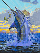 Striped Marlin Framed Prints - Bastante Off00142 Framed Print by Carey Chen