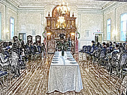 Synagogue Digital Art - Bat Mitzvah by David Schneider
