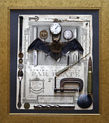 Bat Mixed Media Posters - Bat Time Poster by John Bruno