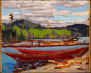 Famous Artists - Bateaux by Tom Thomson