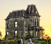 Haunted House Photo Posters - Bates Motel Haunted House Poster by Paul W Sharpe Aka Wizard of Wonders