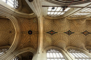 Coat Of Arms Prints - Bath Abbey ceiling Print by Paul Cowan