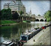Pulteney Bridge Framed Prints - Bath Canal Framed Print by Marilyn Wilson