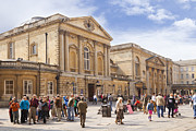 Crowd Scene Art - Bath Somerset by Colin and Linda McKie