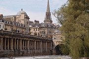 Pulteney Bridge Framed Prints - Bath Framed Print by Stephane Rollandin