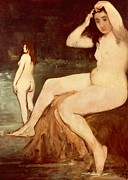 Human Body Paintings - Bathers on Seine by Edouard Manet