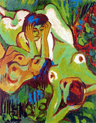 Ernst Ludwig Kirchner - Bathers on the lawn