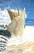 Anneke Hut Art - Bathing Angel by Anneke Hut