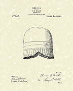 Cap Drawings Posters - Bathing Cap 1915 Patent Art Poster by Prior Art Design