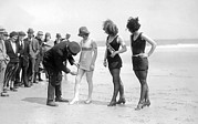 Bathing Photos - Bathing Suit Fashion Police by Underwood Archives