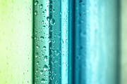 Water Drops Digital Art - Bathroom Stripes Abstract by Natalie Kinnear